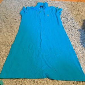 Ralph Lauren Polo blue collared dress